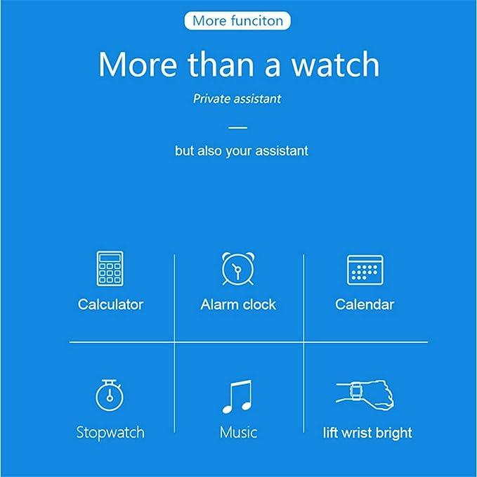 Amazon.com: LXJTT Waterproof Sport Smart Watch Steps Sleep ...
