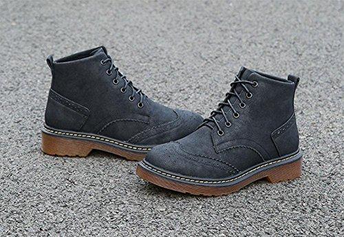 Plus Black Moda Plataforma Meili Encajes Extra Botas Estudiante Botines De Algodón Casual Cashmere Salvaje Tamaño Martin Mujer Zapatos 0wF0Baqx