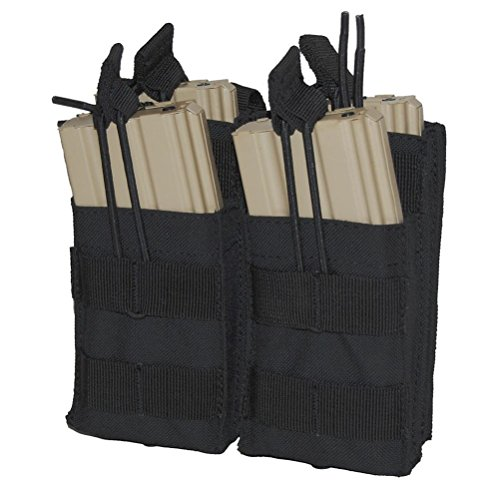 Purplebox Condor Double Stacker M4 Mag Pouch Black Tactical Molle Mil (System M4 Double Mag Pouch)