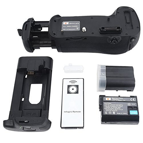 DSTE Pro IR Remote MB-D12 Vertical Battery Grip + 2x EN-EL15 for Nikon D800 D810 D800E D800S D810A SLR Digital Camera