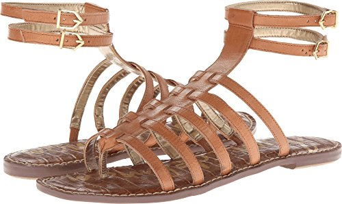 Sam Edelman Women's Gilda Gladiator Sandal,Saddle,9.5 M US