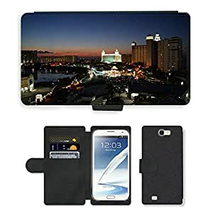 Hot Style Cell Phone Card Slot PU Leather Wallet Case // M00169598 Sunset Cancun Sea Sun Sunset // Samsung Galaxy Note 2 II N7100