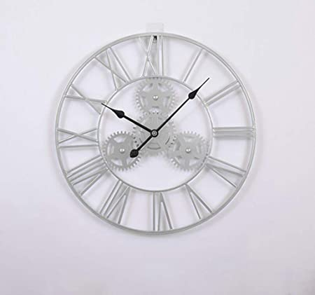 WGFGXQ Reloj de Pared de jardín al Aire Libre, Reloj de Pared de Engranaje Retro de Gran tamaño de 50 CM, Adorno de jardín Vintage Impermeable para jardín/Patio/Patio: Amazon.es: Hogar