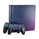 eXtremeRate Purple and Blue Chameleon Full Faceplates Skin Sticker Vinly Decal Cover for Dualshock Playstation 4 Slim Console PS4 Slim Controller Review