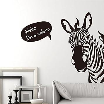 MiniWall Männer Schlafzimmer Persönlichkeit kreative Zebra Kopf Wall ...