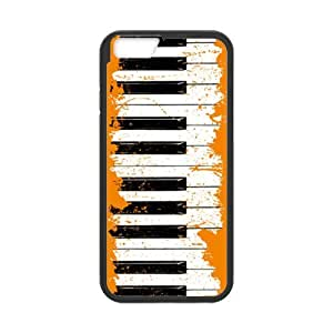 Piano Keys Case Cover for iPhone 6,Personalized Case for iPhone 6 (PC and rubber TPU) 4.7 inch Screen for iPhone6