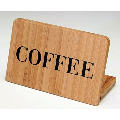 Cal-Mil 606-1 Bamboo Coffee Beverage Sign