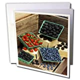 3dRose TDSwhite – Farm and Food - Food Healthy Fresh Berries Colorful - 6 Greeting Cards with Envelopes (gc_285154_1)