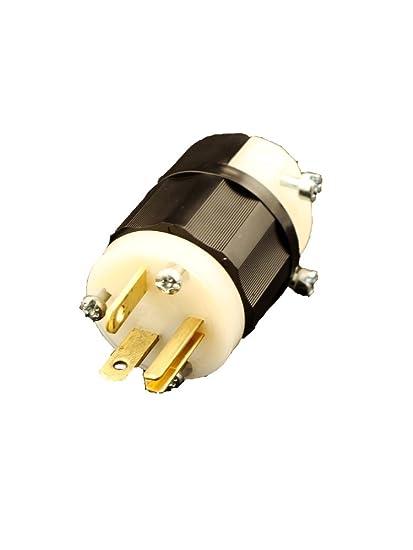 leviton 5366 c 20 amp 125 volt plug straight blade industrial rh amazon com
