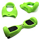[WheelElite] Silicone Case Scratch Protector Wrap Rubber Cover Protective Skin for 6.5 Inch Hover Board 2 Wheels Balance Scooter (Green)