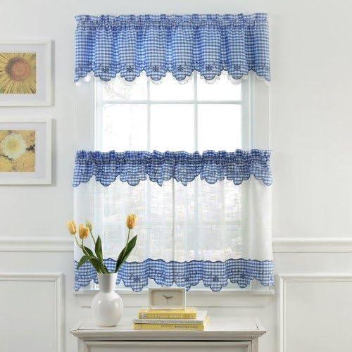 Violet Linen Tivoli Window-Treatment-valances, 60 X 15 , Beige Brown