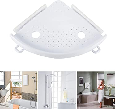 Suppyfly Estantería de esquina para baño, champú, ducha ...