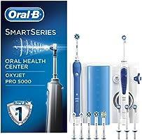 ORAL-B PRO 5000 Combiné Dentaire/Oxyjet Brosse à Dents Rechargeable/Hydropulseur avec Connectivité Bluetooth