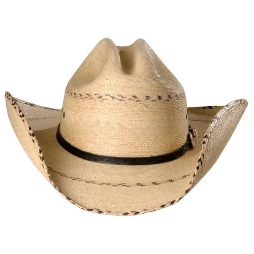 Kenny Chesney Men s Palm Straw Cowboy Hat Natural 7 1 2 - Buy Online ... 86f56fc598b