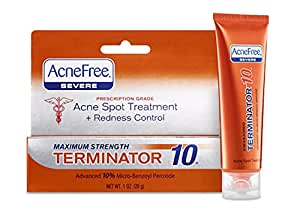 AcneFree Terminator 10, 1-Ounce Tube (Pack of 3)