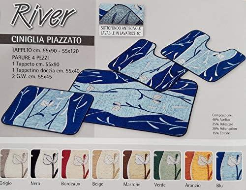 Dalila Casa Tappeto Bagno Nuage Parure 3 Pezzi Beige, Set 3 Pezzi