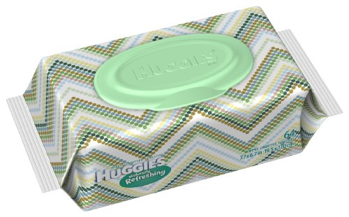 Huggies Naturally Refreshing Baby Wipes Soft Pack, 64-Count (Pack of 4) ()