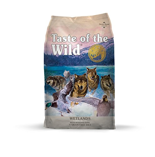 - Taste of the Wild Grain Free High Protein Real Meat Recipe Wetlands Premium Dry Dog Food