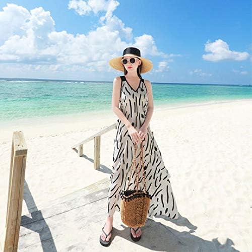 ZENWEN Gli Abiti da Donna Sono Larghi E Sottili Gonne da Spiaggia, Abiti da Vacanza al Mare, Possono Essere Indossati in Un Corpo Grasso