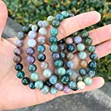 Natural Indian Agate Gemstone Bracelet 7 inch