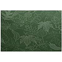E by design RFN746GR34-35 Dotted Leaves, Floral Print Indoor/Outdoor Rug, , 3 x 5, Green