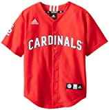 MLB St. Louis Cardinals Boy's Screen Printed Team Color Baseball Jersey