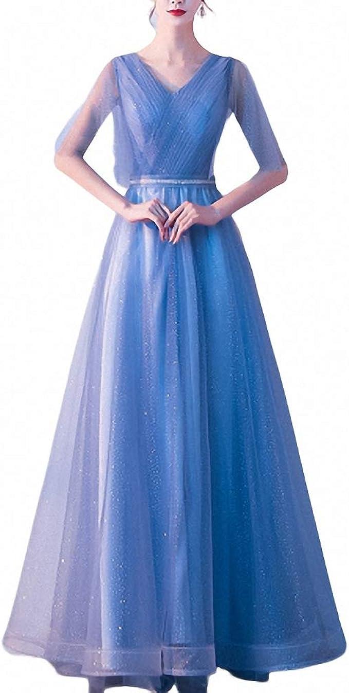 ZLDDE Damen Elegant Abendkleid Ballkleid Brautjung fernkleid Maxi