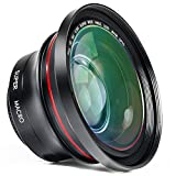 ORDRO Camera Lens HD 0.39X Super Wide Angle Lens for Camcorder Video Recording (FS-1)