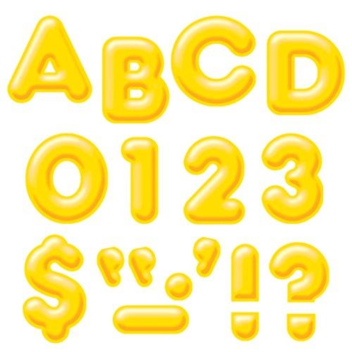 "TREND enterprises, Inc. Yellow 4"" 3-D Uppercase Ready Letters -  T-79503"