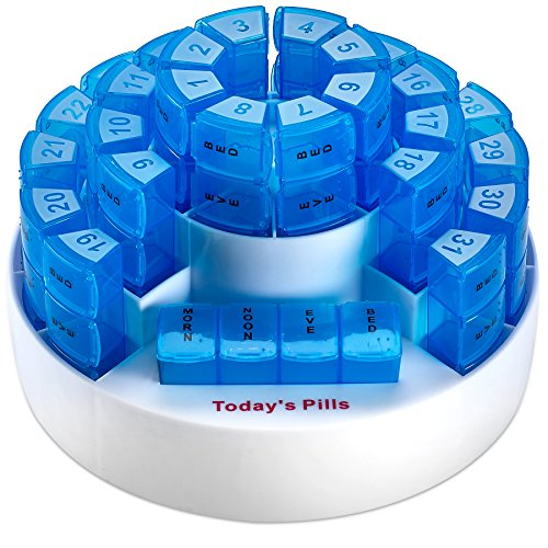 Monthly Pill Box by MEDca - Smart Prescription Organization with Multiple Daily Doses Section, Removable Compartments Perfect for Travelling by MEDca