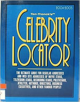 Celebrity Locator Ten Troncks Celebrity Locator Amazon Co Uk Staff Staff Books