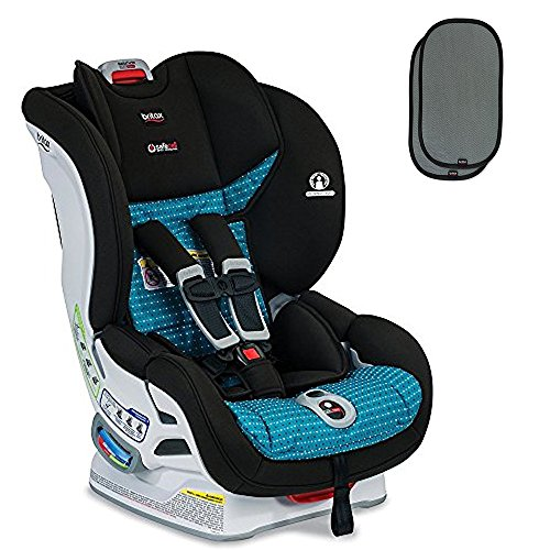 Britax USA Marathon ClickTight Convertible Car Seat, Oasis with EZ-Cling Sun Shades