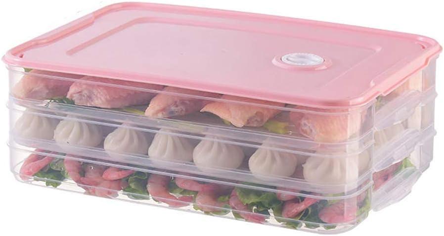 Baifeng Nourriture Conservation Plateau R/éfrig/érateur Boulettes Organisateur de Stockage Bo/îte avec Couvercle Rose 1 Layer