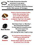 Peterpanshop Tiger Eye & Hematite & Black Obsidian