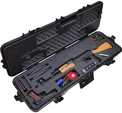 Case Club Pre-Made AK-47 Waterproof Rifle Case with Accessory Box and Silica Gel to Help Prevent Gun Rust (Best Accessories For Ak 47)