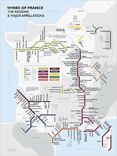 Metro Wine Map Of France David Gissen 9781936880041 Amazon Com Books