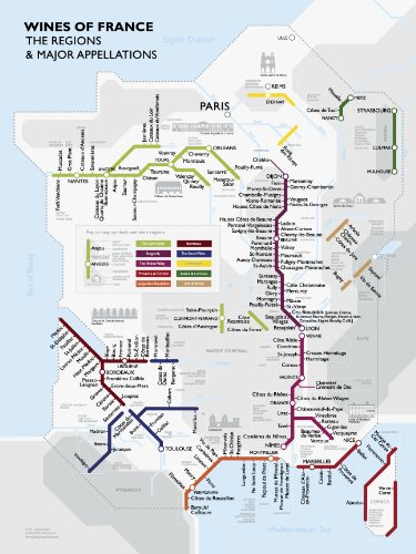 Wine Region Map France - Metro Wine Map of France