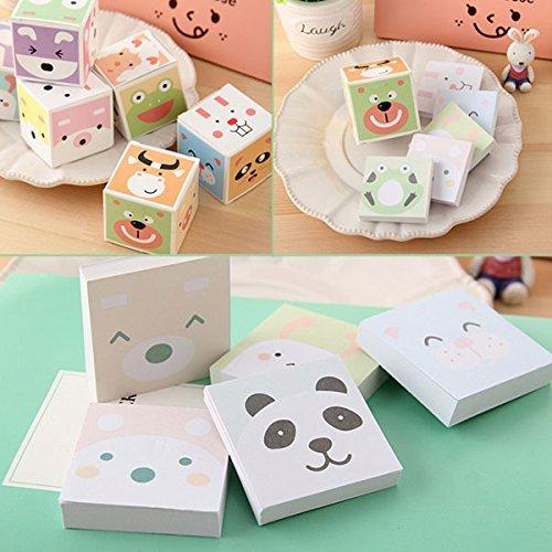 LUQUAN 5 Pcs/Lot Stationery Box Cartoon Animal Small Memo Pad