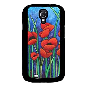 Cool Painting Red Poppies Samsung Galaxy S4 I9500 Case Fits Samsung Galaxy S4 I9500 by icecream design