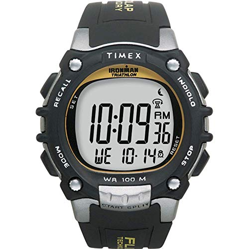 Timex Men's T5E231 Ironman Classic 100 Black/Yellow Resin St
