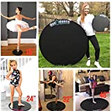 """dot2dance Genuine Brand Portable Marley Dance Floor (46-48"""") Double-Sided with Gym MAT BAC,Turnboard,Tap Board"""