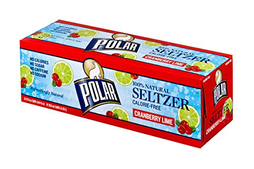 Polar Seltzer Cranberry Lime, 12 Fluid Ounce (Pack of 12)