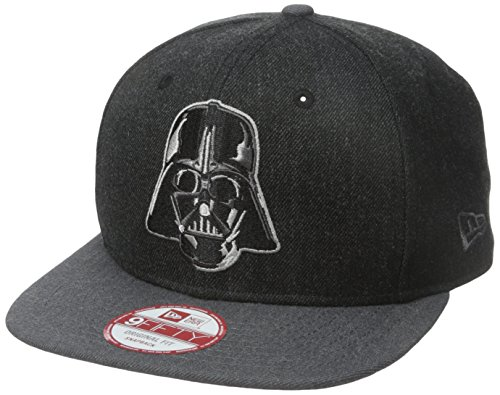 New Era Cap Men's Hero Heather 2 Darth Vadar 9Fifty Snapback Cap, Black, One - Snapback Star Wars