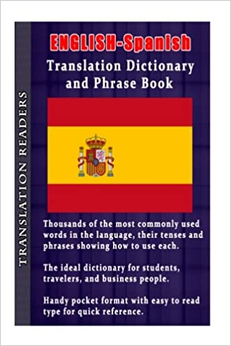 English Spanish Translation Dictionary And Phrase Book A