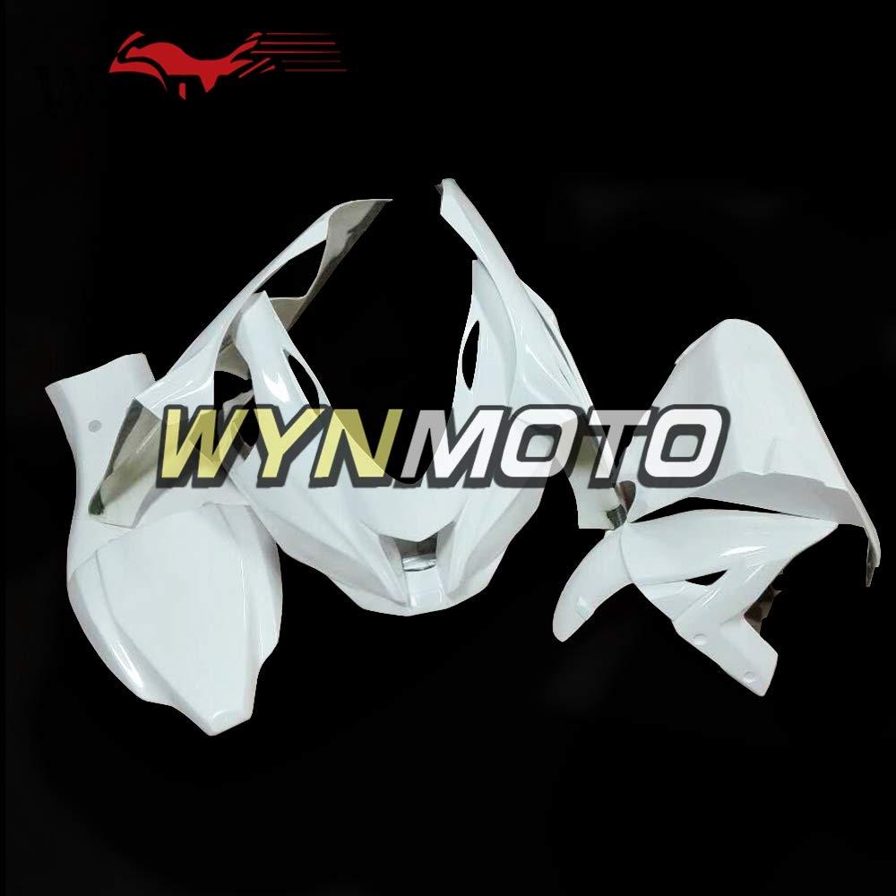 WYNMOTOオートバイ未塗装ファイバーグラスレーシングフルフェアリング川崎ZX10R用忍者2016 ZX-10R 16裸ファイバーグラスフェアリングキットボディキットカウリングガラス繊維車体   B07MK6GJGB