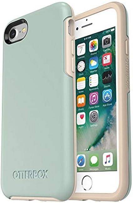 Amazon Com Otterbox Symmetry Coque Anti Choc Fine Et Elegante Pour Iphone 7 8 Se 2020 Bleu Gris