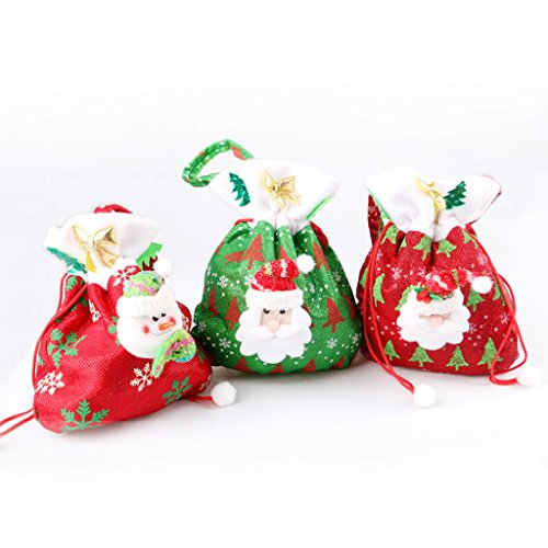 Best-topshop Christmas Candy Bags, 7.28 x 9.06 inches Party Gift Bakery Cookie Food Bags for Christmas Wedding Festival Birthday (3)