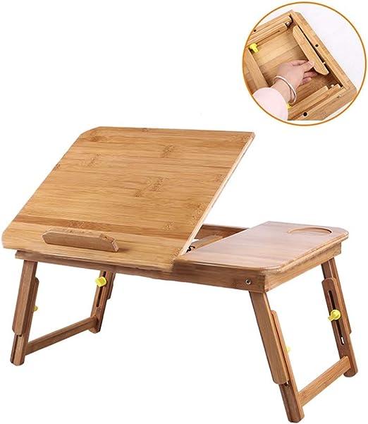 mesa plegable ZZHF Rectángulo Bambú, Buena Estabilidad, Ajuste del ...