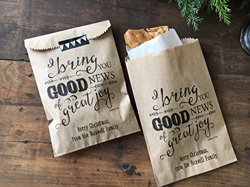 christmas gift bagschristian teacher neighbor gift exchange favor bags 5x7 natural kraft