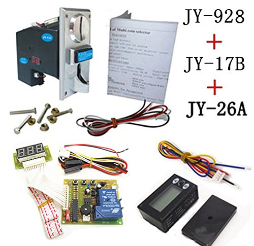 928+17B+26A coin operated time control device for cafe kiosk, multi coin selector with timer board and reset counter (Reset Timer compare prices)
